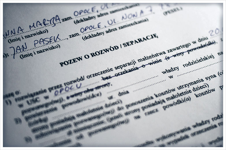 Akt rozwodowy - Sworny Tłumaczenia Przysięgłe przez Internet