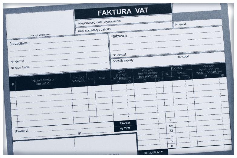 Faktura VAT_Tłumaczenia przysięgłe przez Internet_Sworny