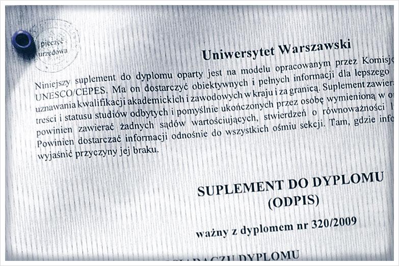 Suplement do dyplomu, Tłumaczenia Przysięgłe przez Internet_Sworny